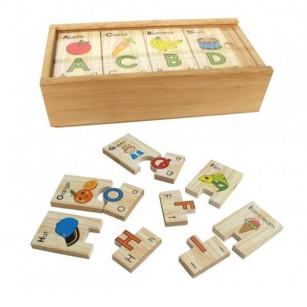 Đồ chơi gỗ - Bộ tìm chữ cái Tiếng Anh Winwintoys 64312