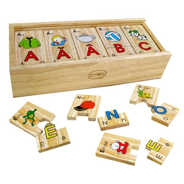 Đồ chơi gỗ - Bộ tìm chữ cái tiếng Việt