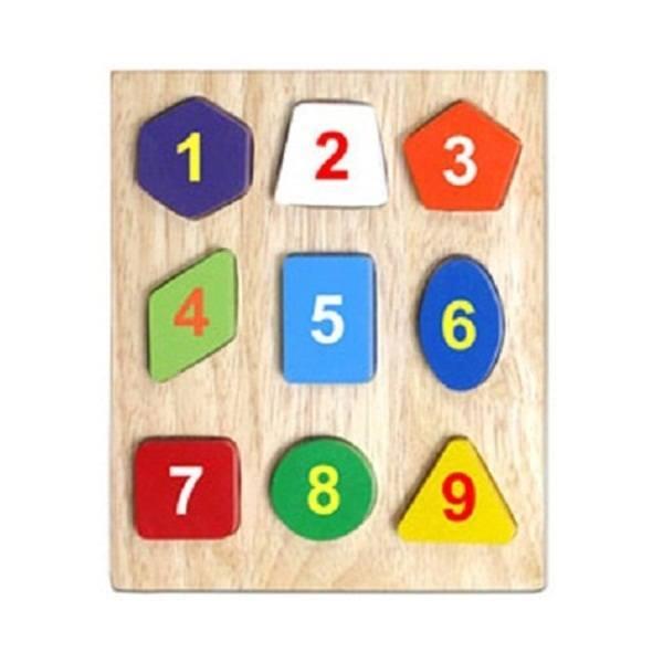 Đồ chơi gỗ - Bộ xếp 9 hình 63042