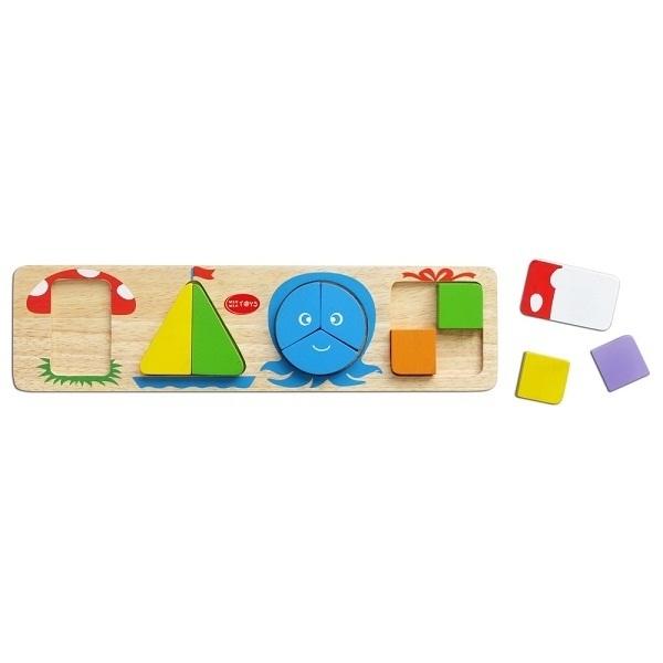 Đồ chơi gỗ - Bốn hình cơ bản 69052
