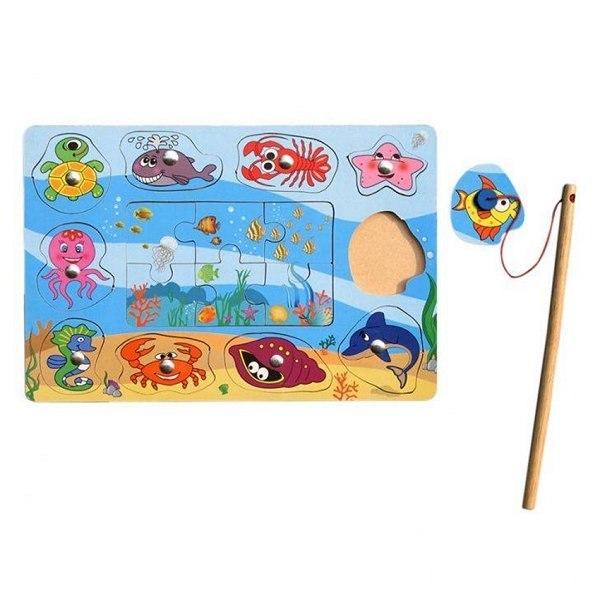 Đồ chơi gỗ - Câu thú biển 61362