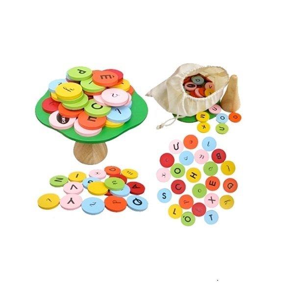 Đồ chơi gỗ - Cây cân bằng học chữ