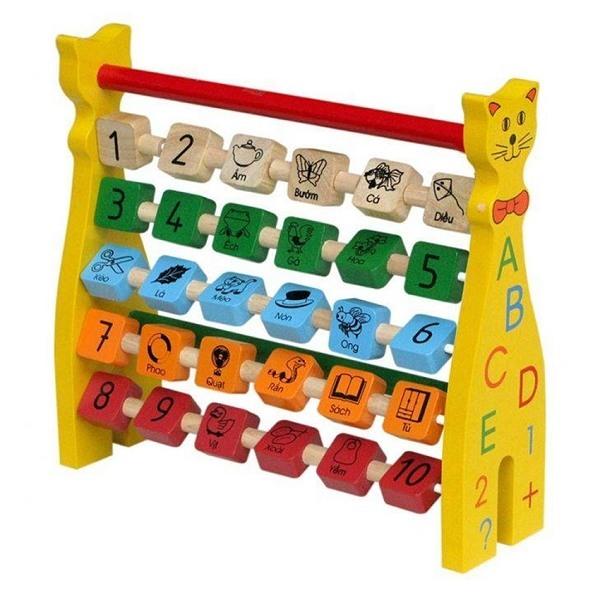 Đồ chơi gỗ - Chú mèo ABC 63312