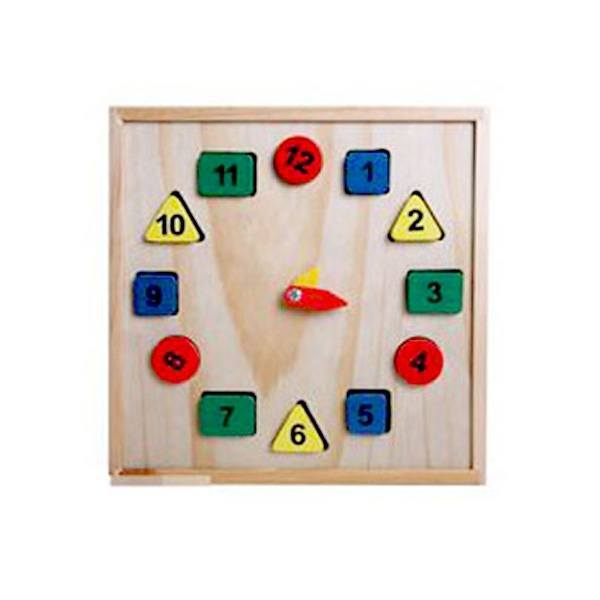 Đồ chơi gỗ - Đồng hồ số và hình học cho bé