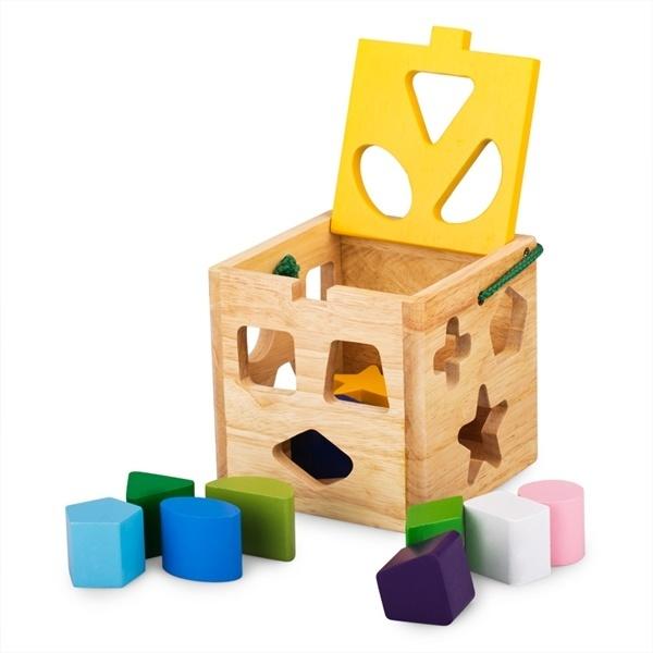 Đồ chơi gỗ - Giỏ thả 12 khối 62022