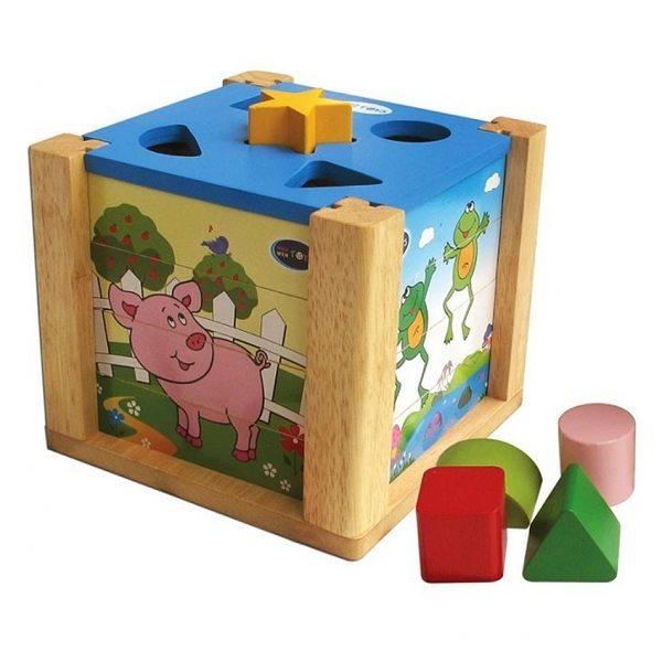 Đồ chơi gỗ - Hộp xếp hình thả khối 69022