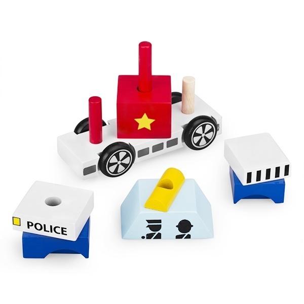 Đồ chơi gỗ - Lắp ráp xe cảnh sát Winwintoys 60292