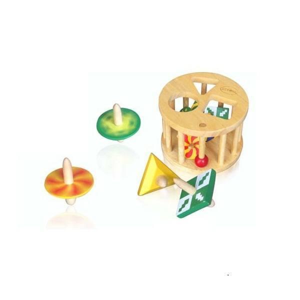 Đồ chơi gỗ - Lồng tròn 6 con vụ 61022