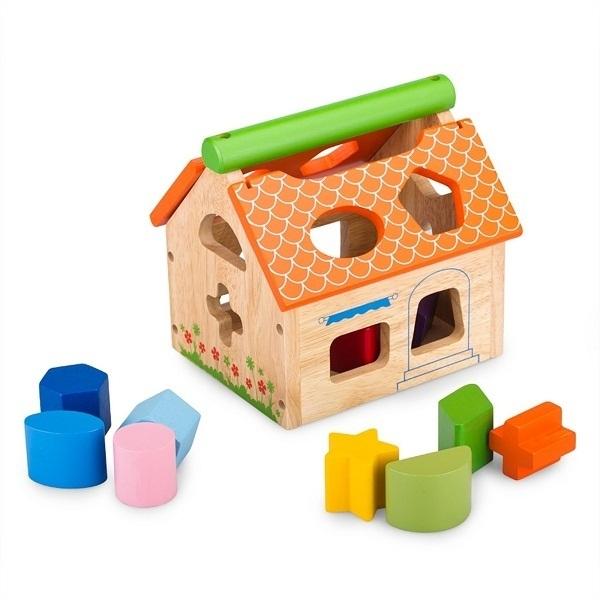 Đồ chơi gỗ - Nhà thả 12 khối 68022