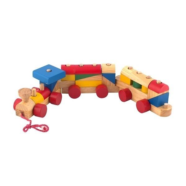 Đồ chơi gỗ - Tàu hỏa lắp ráp