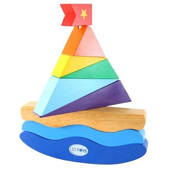 Đồ chơi gỗ - Thuyền buồm ra khơi