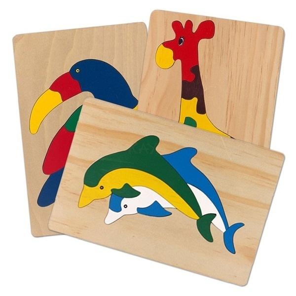 Đồ chơi gỗ - Tranh ghép thú 61242