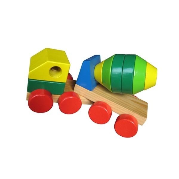 Đồ chơi gỗ - Xe trộn bê tông lắp ráp