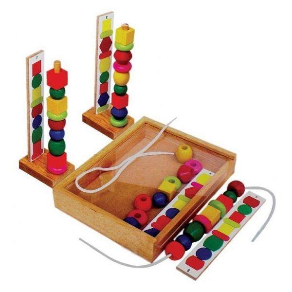 Đồ chơi gỗ - Xếp chuỗi hạt 63162