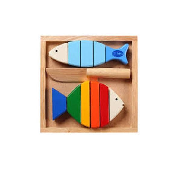 Đồ chơi gỗ - Bộ cắt 2 cá 63032