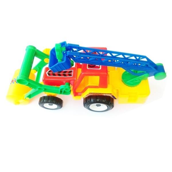 Đồ chơi nhựa - Xe lu có thang cứu hộ 8755B