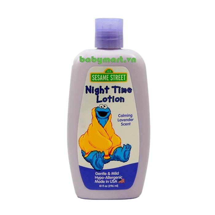 Dưỡng ẩm cho bé ban đêm Sesame Street 296ml hương Lavender