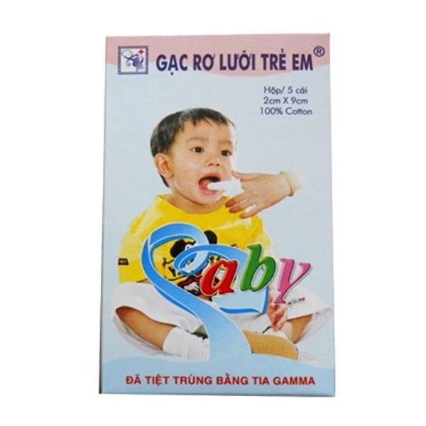 Gạc rơ lưỡi trẻ em Tam Minh (hộp 5 miếng)