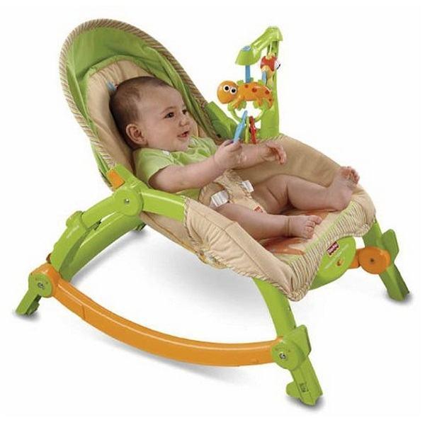 Ghế rung Fisher Price giúp bé ăn ngoan ngủ khỏe, hình thành tính tự lập