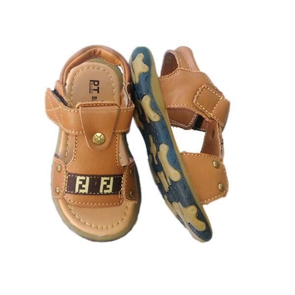 Giày da sandal cho bé trai quai hình chữ