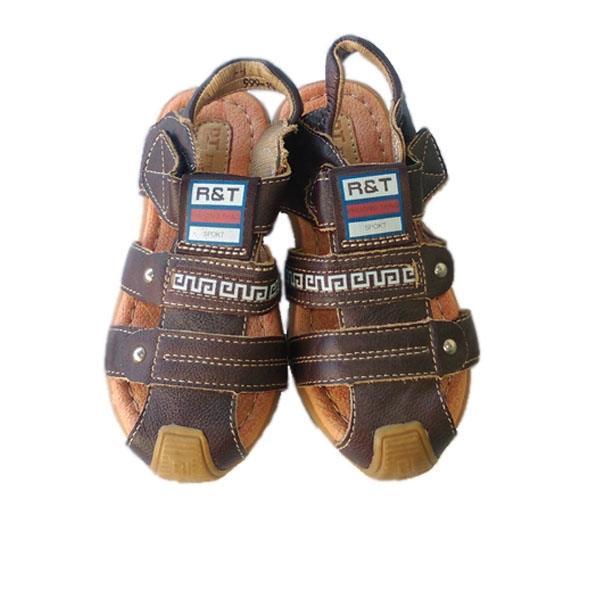 Giày da sandal cho bé trai trung