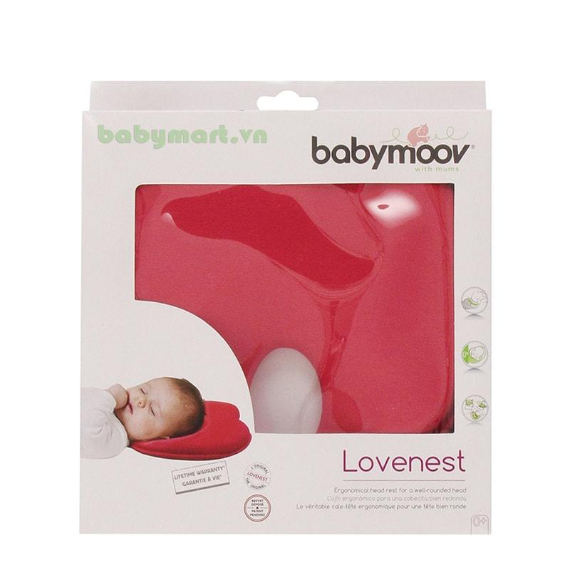 Gối chống bẹt đầu Lovenest Babymoov đỏ