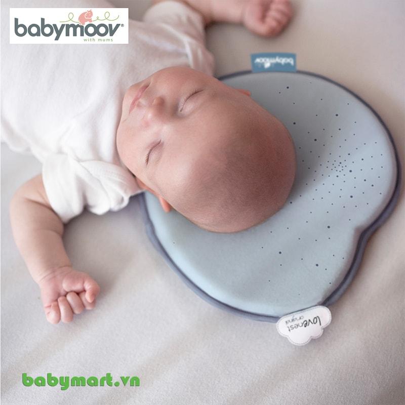 Gối chống bẹt đầu Lovenest Babymoov lơ