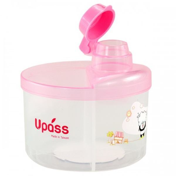 Hộp chia sữa bột Upass tròn màu xanh UP8005X