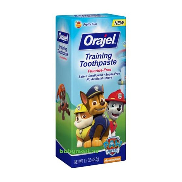Kem đánh răng nuốt được Orajel fruity