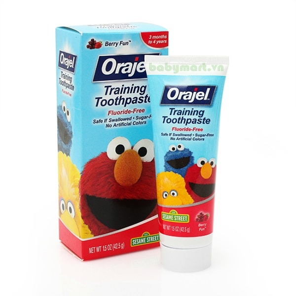 Kem đánh răng nuốt được Orajel hương Berry
