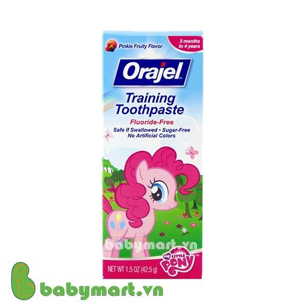 Kem đánh răng nuốt được Orajel pinkie