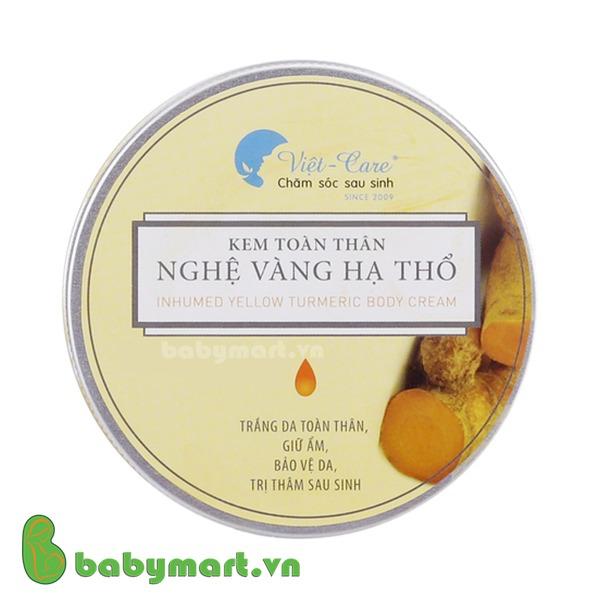 Kem toàn thân nghệ vàng hạ thổ Việt Care sau sinh