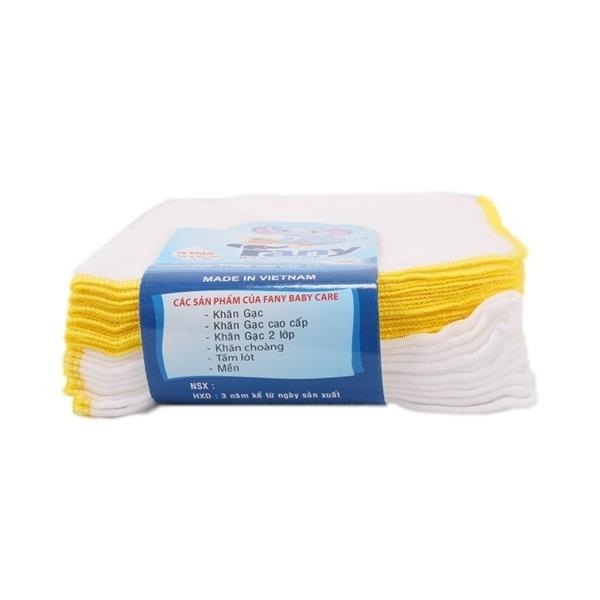 Khăn gạc trung cotton cao cấp Fany 3 lớp 10 cái