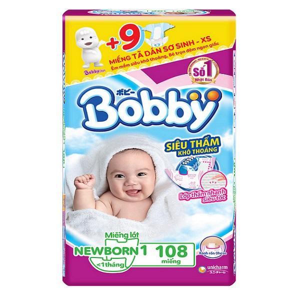 Miếng lót Bobby Newborn 1 108 miếng