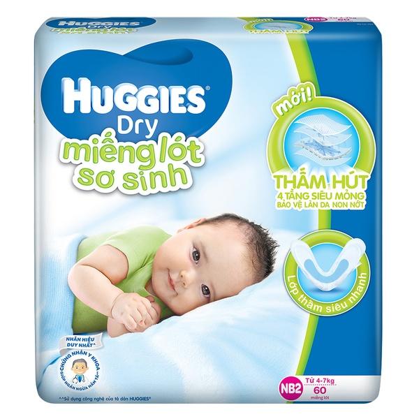 Tã giấy Huggies Newborn 2 60 miếng
