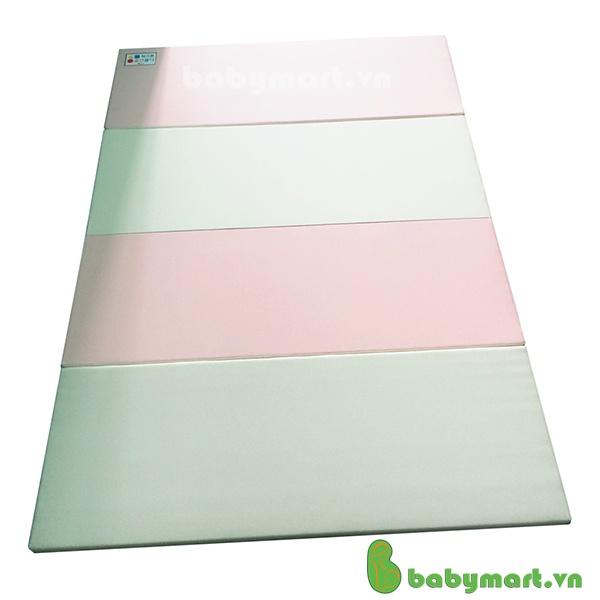 Nệm gấp lót sàn Parklon 6922PI màu hồng trắng