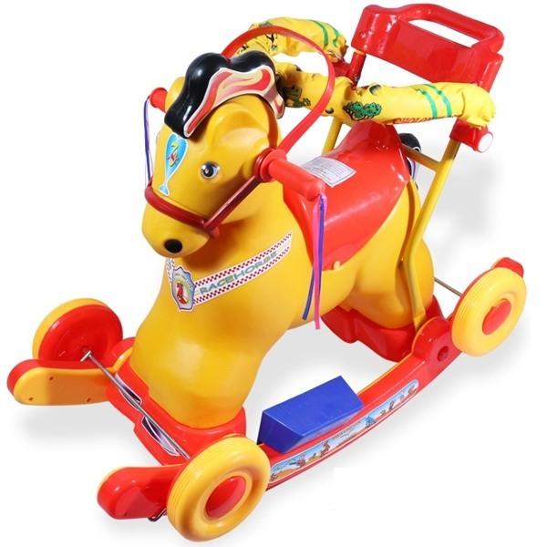Ngựa bập bênh có bảo hiểm cho bé