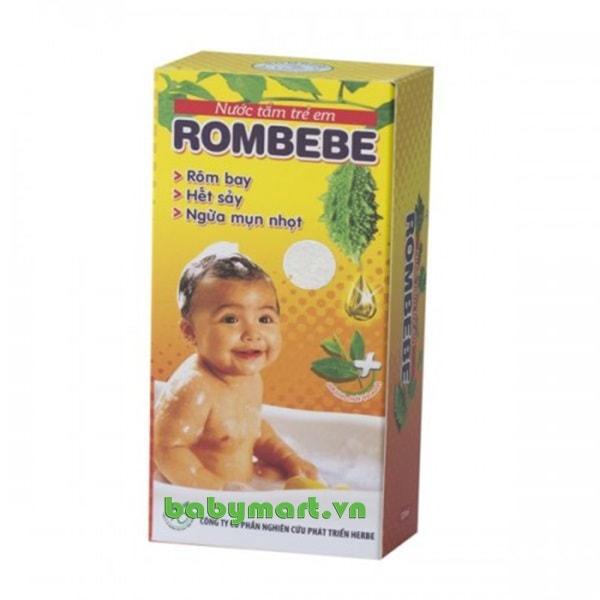 Nước tắm trị rôm sảy Rombebe 125ml
