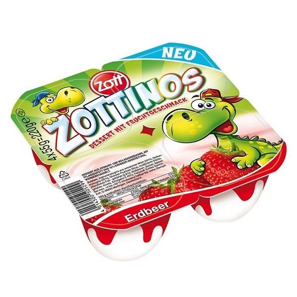 Sữa chua Zott Zottinos vị dâu cho bé