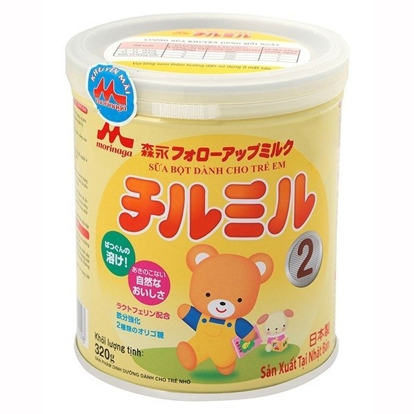 Sữa Morinaga số 2 320g cho bé, tích đai đổi quà