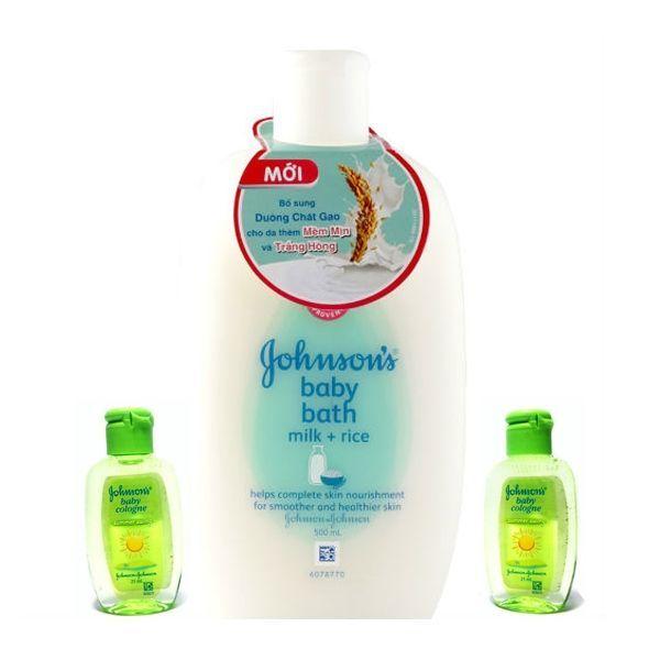 Sữa tắm chứa sữa & gạo Johnson Baby 500ml