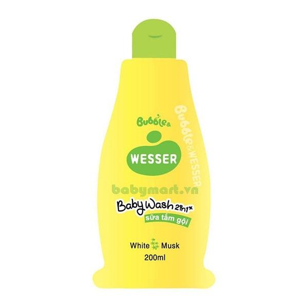 Sữa tắm gội Wesser 2 trong 1 cỏ xạ hương 200ml