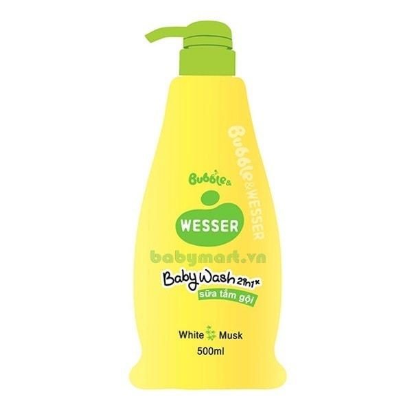 Sữa tắm gội Wesser 2 trong 1 cỏ xạ hương 500ml
