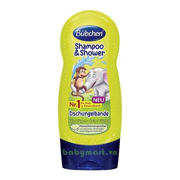 Sữa tắm gội cho bé Bubchen nhiệt đới 230ml
