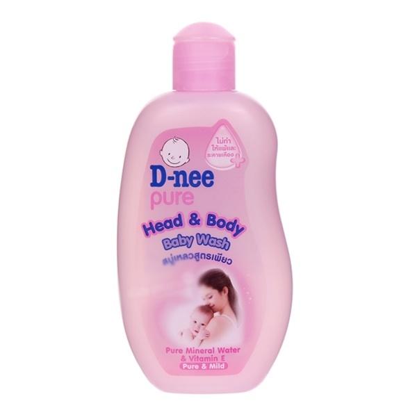 Sữa tắm gội em bé Dnee hồng 200ml
