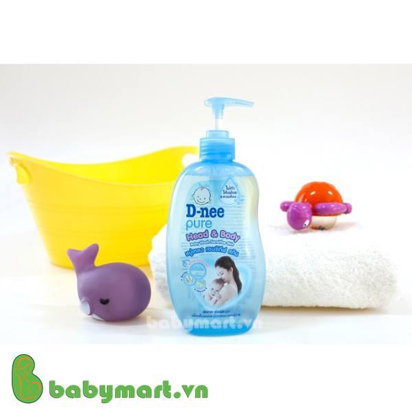 Sữa tắm gội toàn thân em bé Dnee 380ml xanh