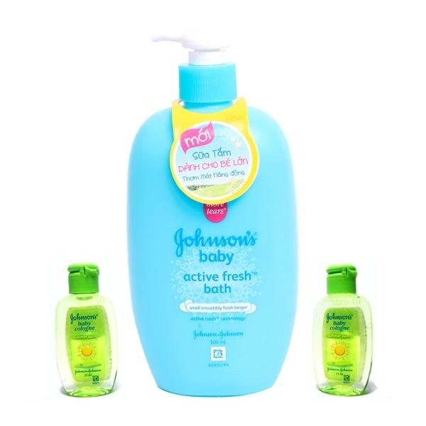 Sữa tắm năng động Johnson Baby 500ml