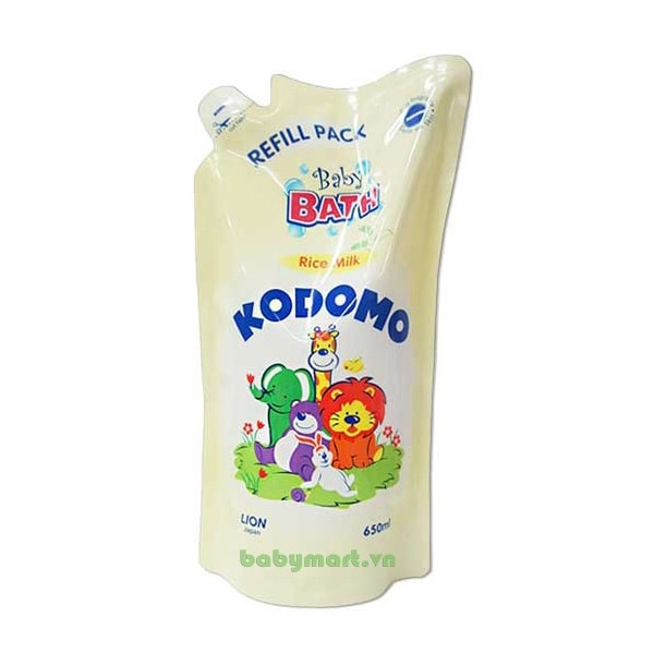 Sữa tắm tinh chất sữa gạo Kodomo 650ml
