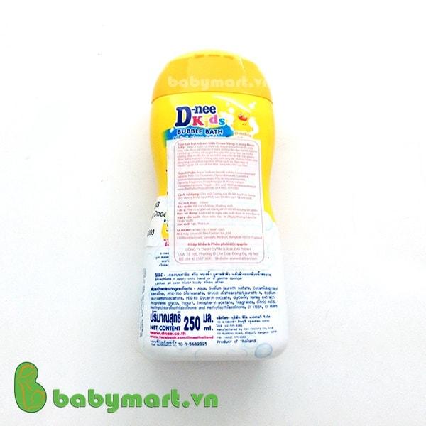 Sữa tắm trẻ em Dnee vàng 250ml