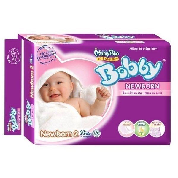 Tã giấy sơ sinh Bobby Newborn 2 (60 miếng)